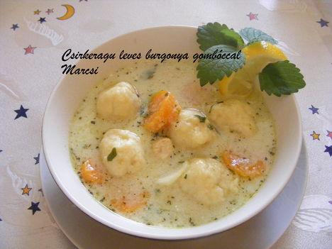 Csirkeragu leves burgonya gombóccal
