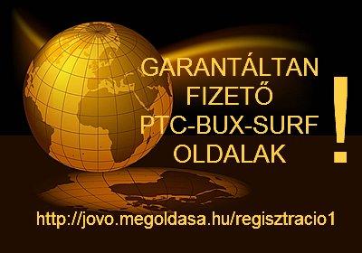 Garantaltan fizető PTC-BUX-SURF oldalak