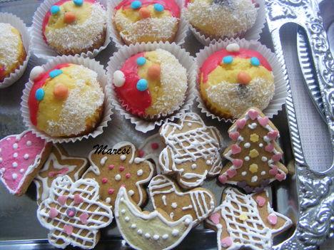 Télapó muffin és mézes