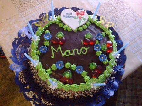 Manó unokám tortája.