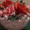 virágtál rózsákkal