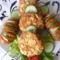 Kukorica-pelyhes fasírozott baconos burgonyával