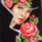Hölgy rózsákkal
