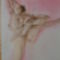 A balerina.  32×40 cm szines ceruza