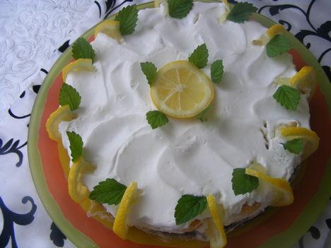 Citromos torta sütés-nélkül