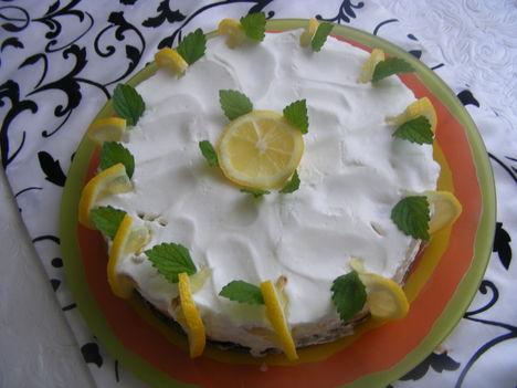 Sütés-nélküli citrom torta