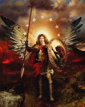 Szent Mihály főangyal védelmezz minket a gonosz kisértései ellen .........Ámen.