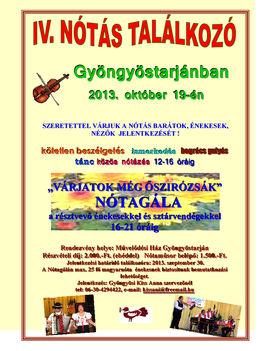 IV.Gyöngyöstarjáni Nótás Találkozó 2013. október 19.