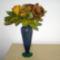 levélrózsa vázában