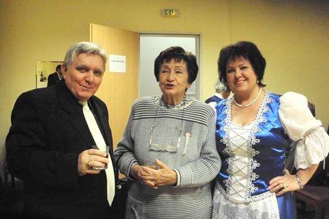 Madarász Katikával és Bohács Istvánnal a karancslapujtői műsor szünetében