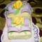 Datolya krémes fondant torta
