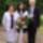Szilvia a nagyszülőkkel, ballagás után otthon