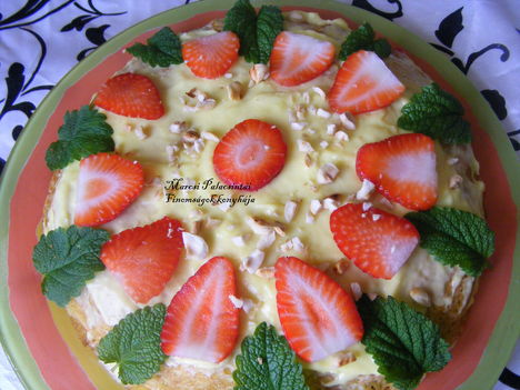 Palacsinta torta eperrel