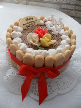 Tejszines csokitorta