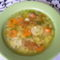 Zöldségleves rókagombával