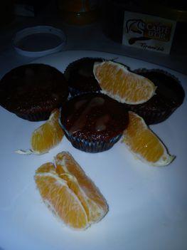 Narancsos -csokoládés muffin