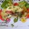 Frissensült tarja zöldségekkel