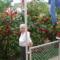 DSCF0014 Feleségem a rózsák előtt
