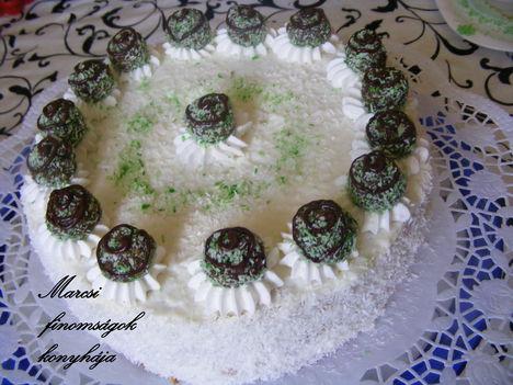 Kókuszgolyós  torta