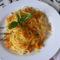 Spagetti karamellízált zőldségekkel