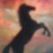 Ló naplementében