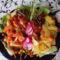 Barbecjue csirkecombok zöldségekkel