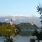 Bled, sziget a tavon