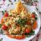 Zöldségek barnarizzsel