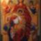 Trónon ülő Istenanya ikon