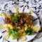 Birkapörkölt olajos salátával