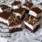 Négerkocka  fehér csoki diszítéssel