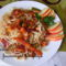 Zöldséges csirkés spagetti