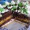 Csokihabos torta  szeletelve