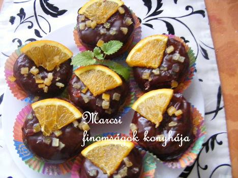 Narancspudingos csokis fánk