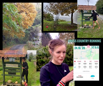 Cross country running 24.10.'20 to breathe well }{T