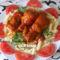 fokhagymás paradicsomos csirkecombok