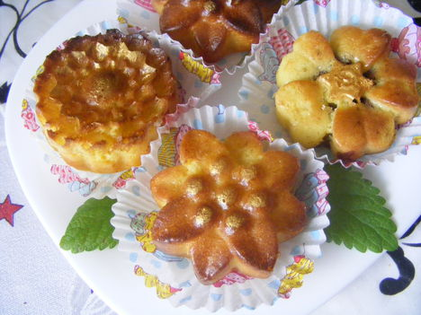 Virágos muffin