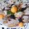 Diós-bögrés gyümölccsel