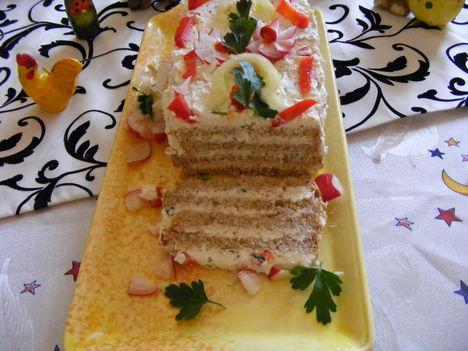 Turó torta  barna kenyérből