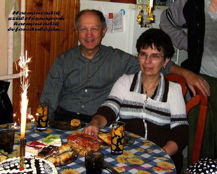 Feleségemmel 60. születésnapomon