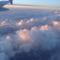 felhők fölött a repülőből