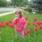 Olivia  a tulipanok kozott