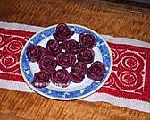 Sziruppal öntözött rózsák
