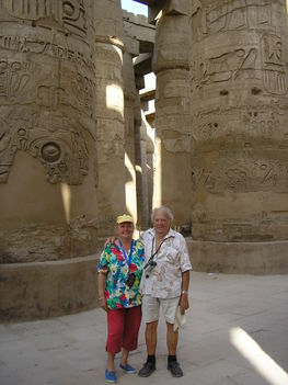Egyiptom 2007 Karnak templomnál Luxorban