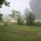 Tájkép reggeli köd