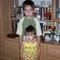 Istvánka és Anita unokám testvérek 2006 nyár
