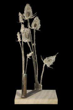 170 - Gáti Gábor - Tűnődés, 1993. 64x30x18cm - Bronz 1236