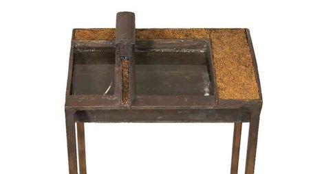550 - Zsemlye Ildikó - Bronz tály, 2003. 104x17x22.5cm - Bronz 1299-2