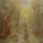 Erdei patak (selyem festmény)