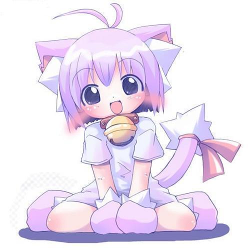 kawaii anime cat girl